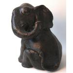 Ele. Bronze junger Elefant Brunnenkopf