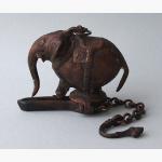 Ele. Bronze Oellampe Indien