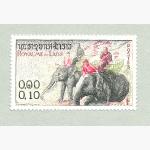 Ele. Briefmarken Laos 0,10