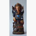 Ele. Ganesha auf Elefant Holz