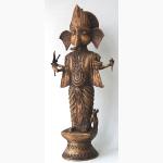 Ele. Ganesha aus Orissa Dokraarbeit verlaufende Gussform Messing auf Ton gearbeitet