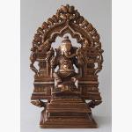Ele. Ganesha dreiteilig Bronze Silber Kupfer