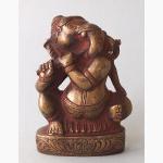 Ele. Ganesha Flöte spielend Sandguß