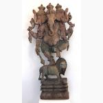 Ele. Große Ganeshaholzskulptur