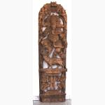 Ele. Großes Ganesha Holzrelief