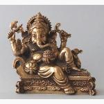 Ele. Messing Ganesha auf einem Sofa