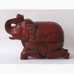 Ele. Gr. Massivholz Elefanten-Box