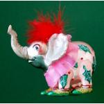 Ele. Glas Baumschmuck Elefantenmädel