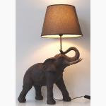 Ele. Lampe mit braunem Schirm
