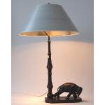 Ele. Lampe mit gefangenen Bronzeelefant