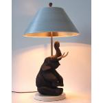 Ele. Lampe mit Holzelefant