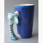 Ele. Keramik Becher mit Elefantengriff