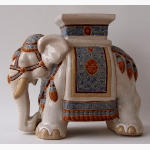 Ele. Keramik gr. Blumenhocker farbig