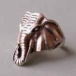Ele. Silberring mit Elefantenkopf
