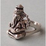 Ele. Silberring mit Ganesha