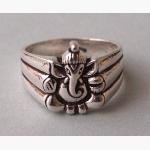 Ele. Silberring mit Ganesha 2
