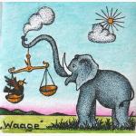 Waage mit Elefant