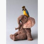 Ele. mit Papagei
