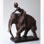 Ele. Resin Elefant mit Mahout Kopie