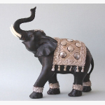 Ele.Elefant mit Silberdecke