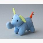 Ele. Stoff hellblauer kl. Elefant