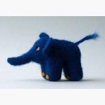 Ele. Stoff kl.blauer Elefant